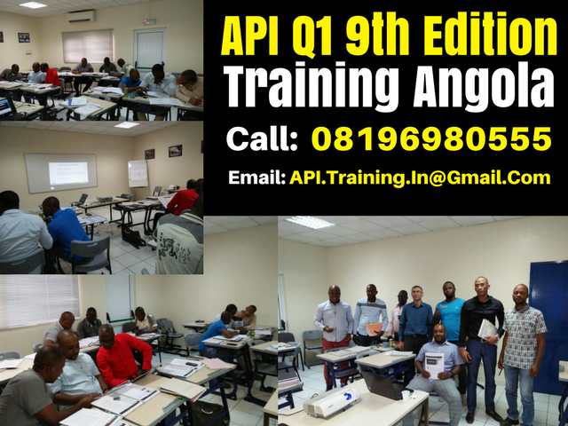 API Q1 9th Edition Practitioner Course in Angola